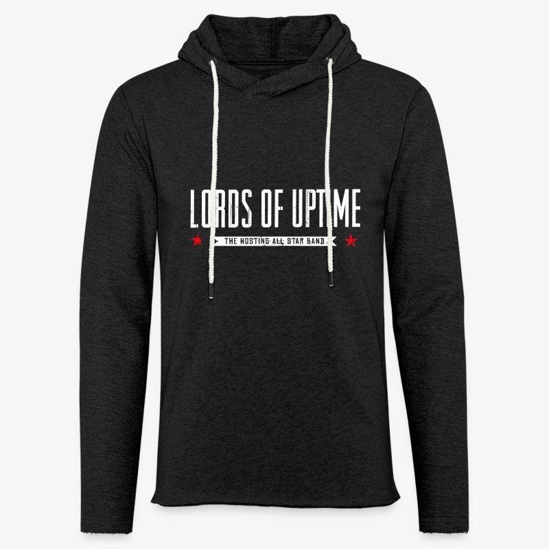 Lords of Uptime typo - Leichtes Kapuzensweatshirt Unisex