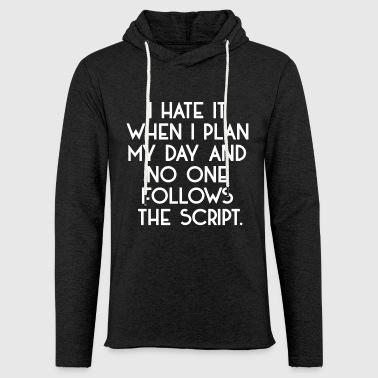 Jeg hader det - Let sweatshirt med hætte, unisex