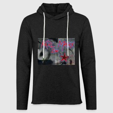 grafitti Marx - Lekka bluza z kapturem – typu unisex