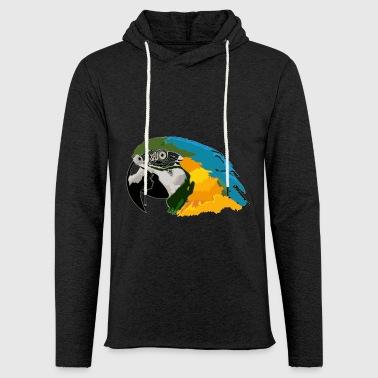 Perroquet tropical - Sweat-shirt à capuche léger unisexe