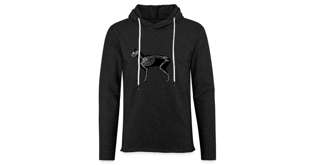 wort-anatomie | Katzen-Skelett - Leichtes Kapuzensweatshirt Unisex