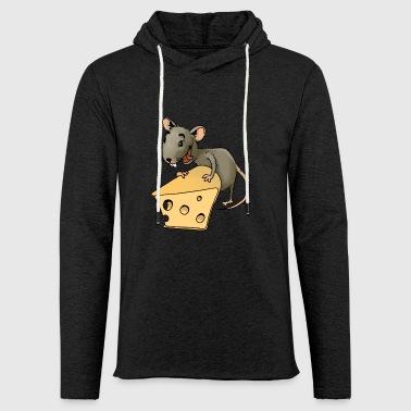 Fiese gryzoni myszy gryzonie robactwo myszy ser - Lekka bluza z kapturem – typu unisex