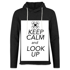 Keep Calm and Look Up - Lichte hoodie unisex