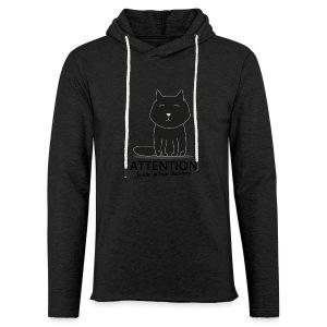 Chat noir - Sweat-shirt à capuche léger unisexe
