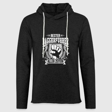 Bester Baggerführer aller zeiten - Leichtes Kapuzensweatshirt Unisex