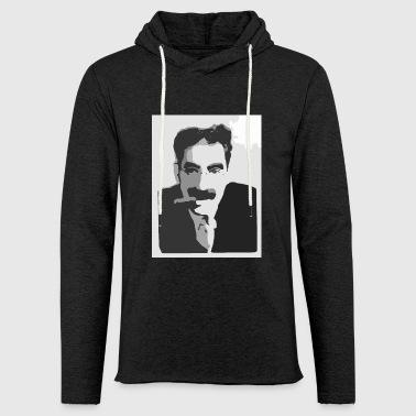 Groucho Marx czerni i bieli - Lekka bluza z kapturem – typu unisex