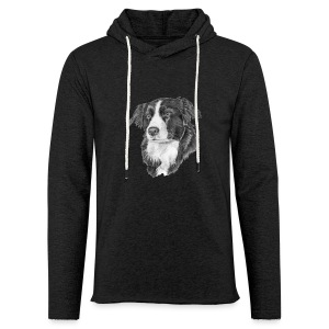 border collie S - Let sweatshirt med hætte, unisex