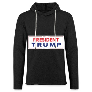 President Trump (White) - Light Unisex Sweatshirt Hoodie