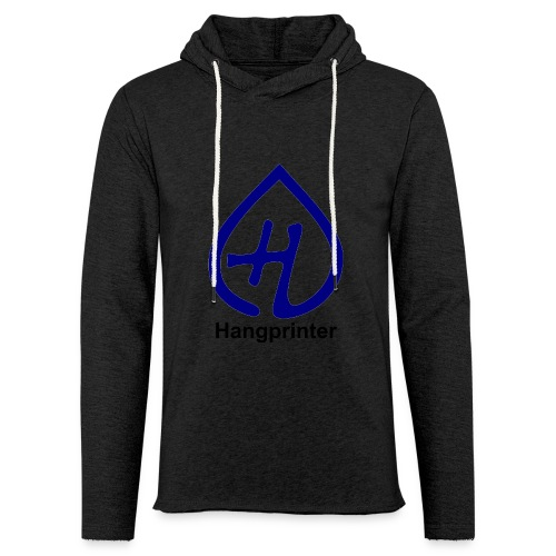 Hangprinter logo and text - Lätt luvtröja unisex