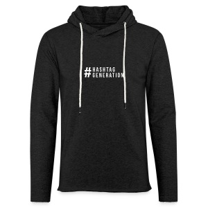 Hashtag generation logo final white - Light Unisex Sweatshirt Hoodie