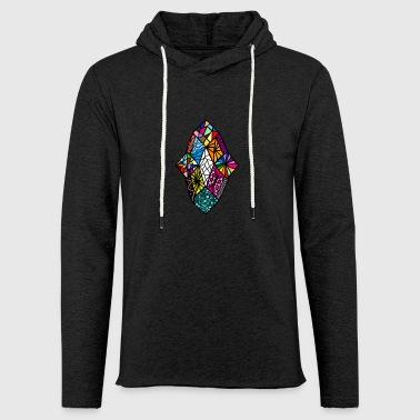 diamanter - Let sweatshirt med hætte, unisex