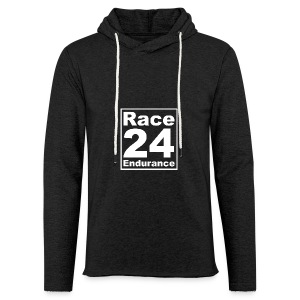 Race24 Logo - White - Light Unisex Sweatshirt Hoodie