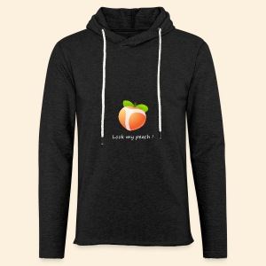 Look my peach in white - Light Unisex Sweatshirt Hoodie