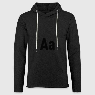 Lettres Aa lettre alphabet - Sweat-shirt à capuche léger unisexe