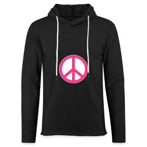 Peace, Love and Happiness - Lichte hoodie unisex