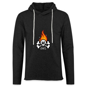 Burning Bones - Let sweatshirt med hætte, unisex