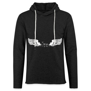Seraph Wings white - Sweat-shirt à capuche léger unisexe