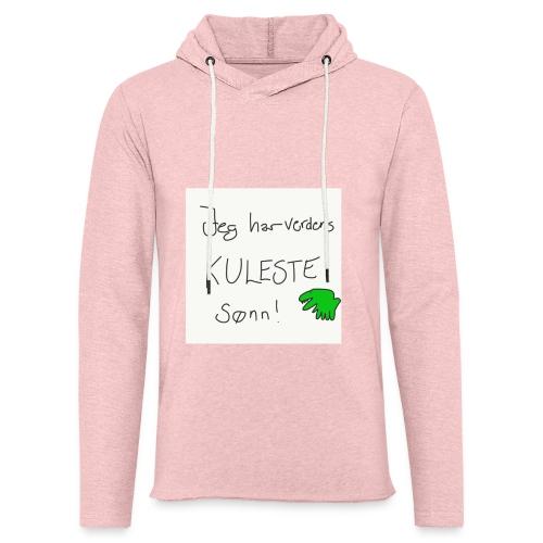 Kul sønn - Lett unisex hette-sweatshirt