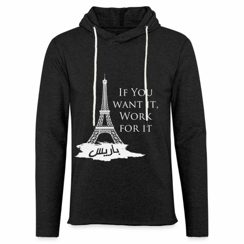 Paris dream work - Sweat-shirt à capuche léger unisexe
