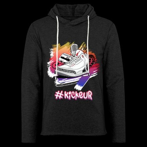 #Kickeur Blanc - Sweat-shirt à capuche léger unisexe