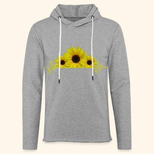 Sonnenblumen Herzschlag Sonnenblume Blumen Blüten - Leichtes Kapuzensweatshirt Unisex