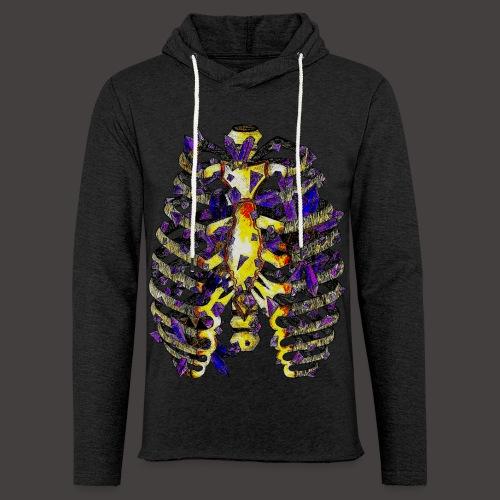 La Cage Thoracique de Cristal Creepy - Sweat-shirt à capuche léger unisexe
