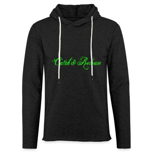 Catch N Release Neon Green - Sweat-shirt à capuche léger unisexe