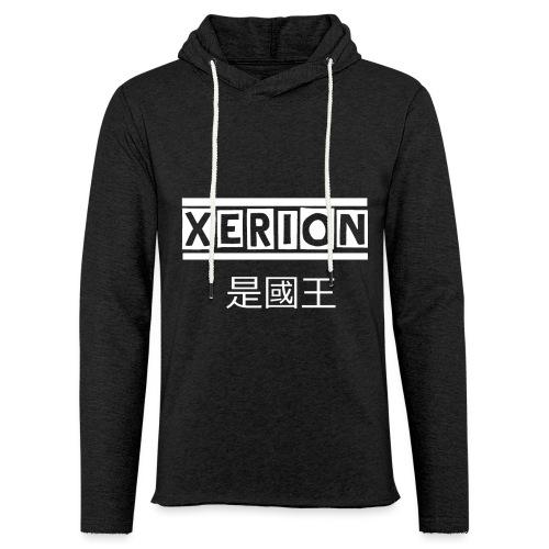 XERION [WHITE] - Leichtes Kapuzensweatshirt Unisex