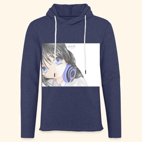 Anime Girl with Headphones - Light Unisex Sweatshirt Hoodie