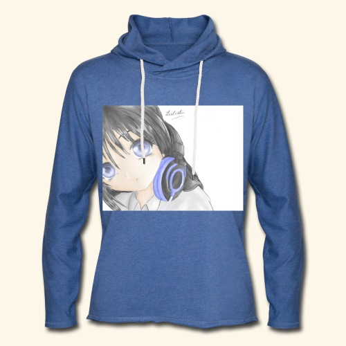 Anime Girl with Headphones - Light Unisex Sweatshirt Hoodie