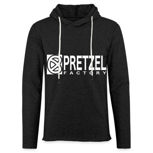 Pretzel Factory Logo Blanc - Sweat-shirt à capuche léger unisexe