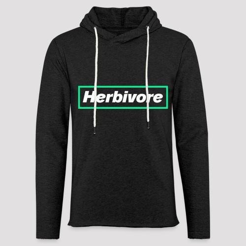 Herbivore Logo White - Felpa con cappuccio leggera unisex
