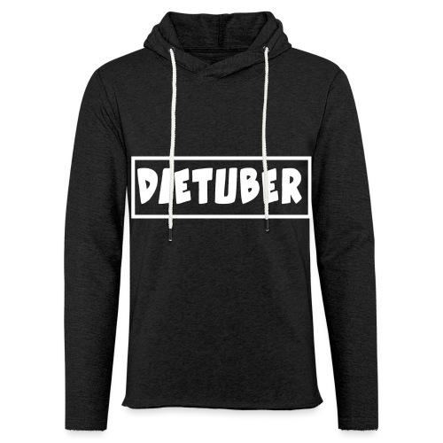 DieTuber Logo weiss - Leichtes Kapuzensweatshirt Unisex