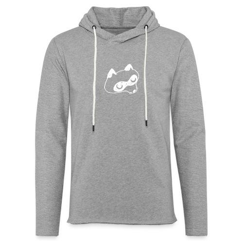 Waschbär weiß - Leichtes Kapuzensweatshirt Unisex