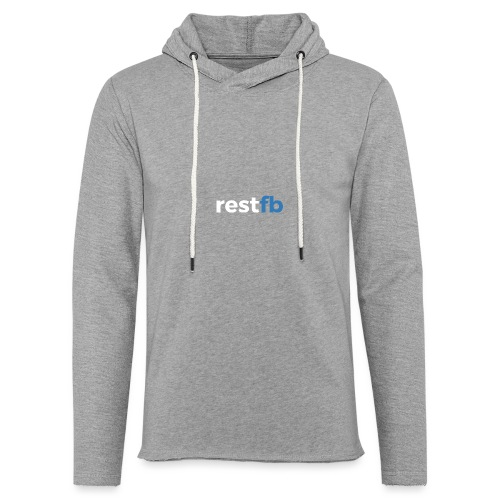 RestFB logo white - Light Unisex Sweatshirt Hoodie