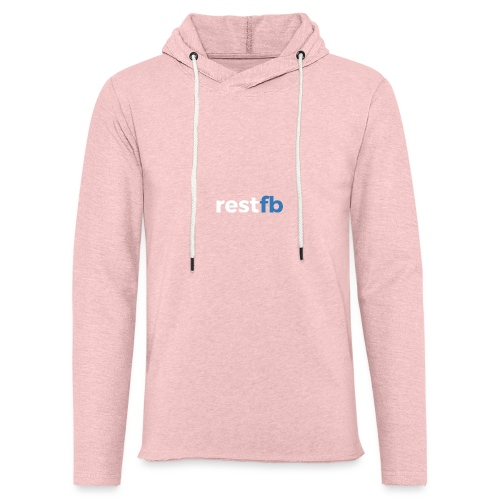 RestFB logo white - Light Unisex Sweatshirt Hoodie