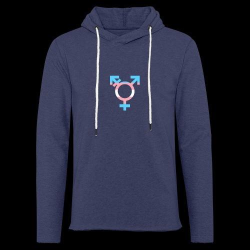 transgender symbol - Lekka bluza z kapturem