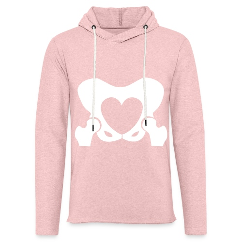 Love Your Hips Logo - Light Unisex Sweatshirt Hoodie
