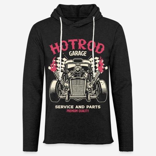 hotrod vintage cars - Leichtes Kapuzensweatshirt Unisex