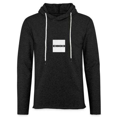 black-rewind-play-pause-forward-t-shirts_design - Lichte hoodie unisex