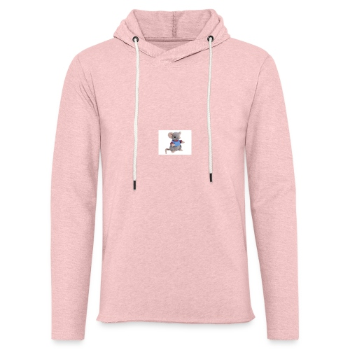 rotte - Let sweatshirt med hætte, unisex