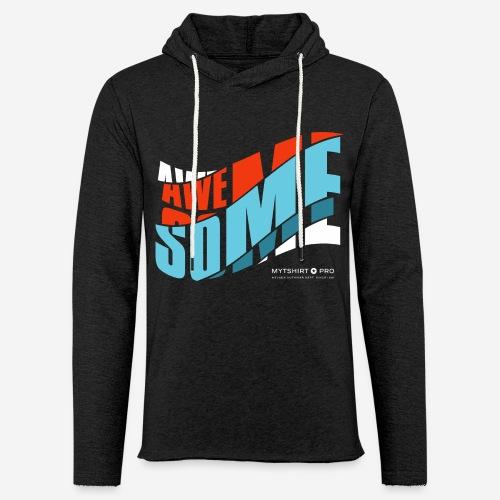 fantastische T-Shirt Design Diagonale - Leichtes Kapuzensweatshirt Unisex