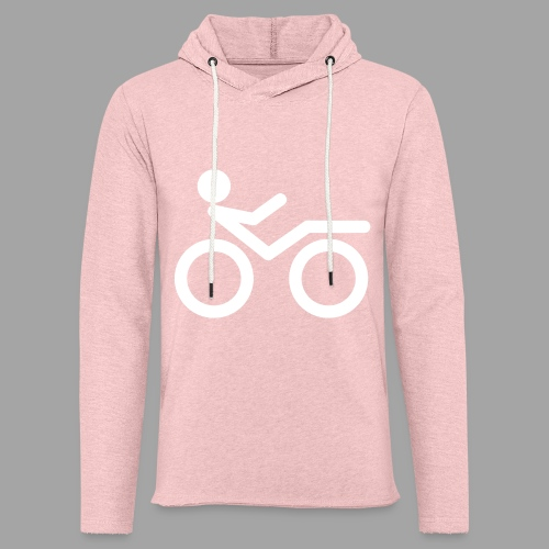 Recumbent bike white 2 - Kevyt unisex-huppari