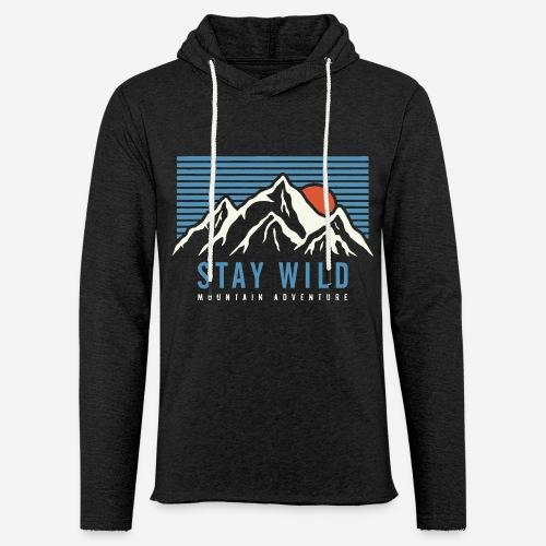 mountain stay wild - Leichtes Kapuzensweatshirt Unisex