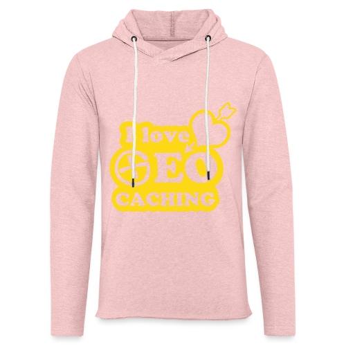 I love Geocaching - 1color - 2011 - Leichtes Kapuzensweatshirt Unisex