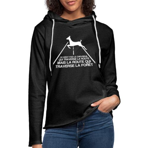 Chevreuil blanc - Sweat-shirt à capuche léger unisexe