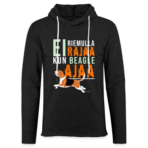 Riemulla Rajaa Beagle - Kevyt unisex-huppari