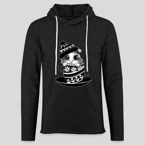 Schwarze Tiere - Leichtes Kapuzensweatshirt Unisex