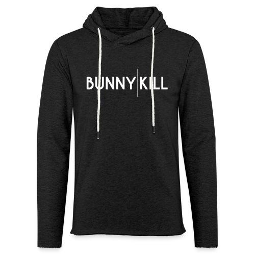 bunny kill logo 02 weiss frei png - Leichtes Kapuzensweatshirt Unisex