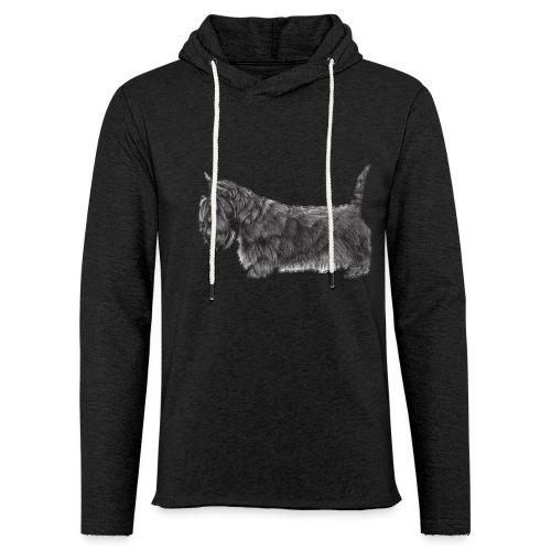 skotsk terrier ub - Let sweatshirt med hætte, unisex
